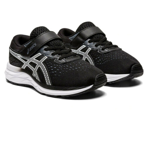 Black Sports Asics Boys Pre Excite 7 PS Running Shoes Trainers Sneakers