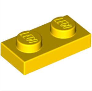 K1 # LEGO PLATE 1x2 Yellow 30 Piece 3023