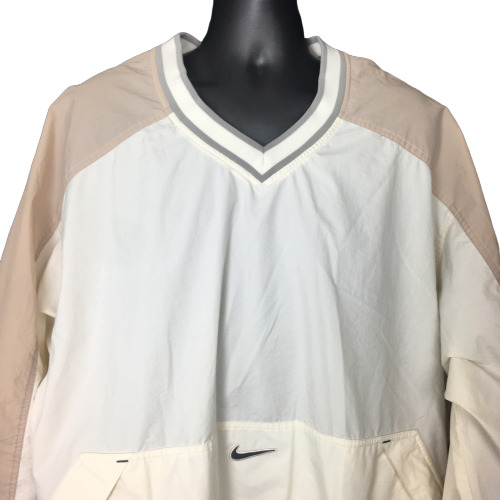 Vintage Nike Windbreaker Jacket 2XL White Tan Golf