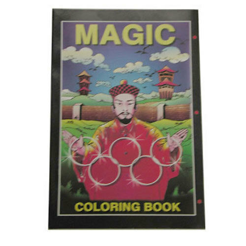 Micro Coloring Book magician Size 4x6. by Uday from Murphy's Magic