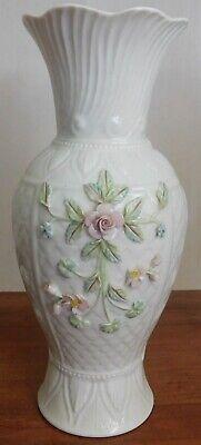 Belleek Ireland 140th Anniversary Bloomfield Vase Floral Flowers Cream Ebay