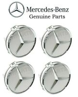 Genuine Mercedes 4x Wheel Center Hub Cap For Alloy Wheel