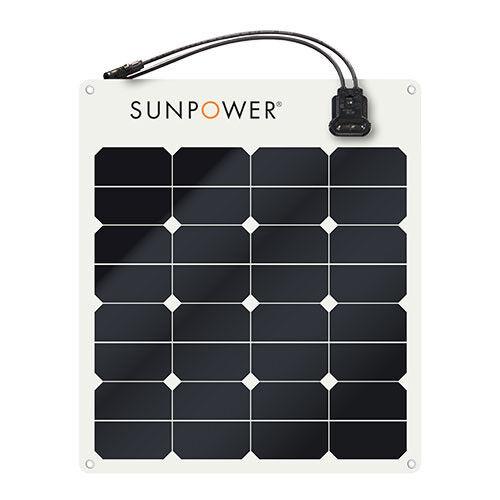 bateaux Sunpower SPR-e-Flex 50 W 12 V semi-flexible panneau solaire pour camping