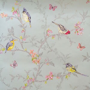 Image Is Loading Phoebe Shabby Chic Bird Wallpaper By Holden Decor