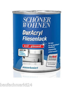 sch ner wohnen duracryl fliesenlack 750 ml wei gl nzend. Black Bedroom Furniture Sets. Home Design Ideas