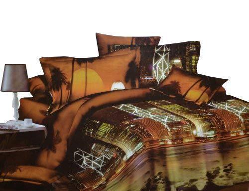 Todd Linens 3 Pcs Queen Set 1 Duvet Cover + 2 Pillow Active Print Bedding Set