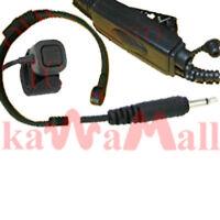 HvyDuty Dual PTT Throat Mic for XTN GP300 HT1250 MTLTRT