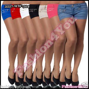 SEXY-Damen-Hotpants-Damen-Sommer-Jeggings-Shorts-Casual-gr-8-10-12-14-UK