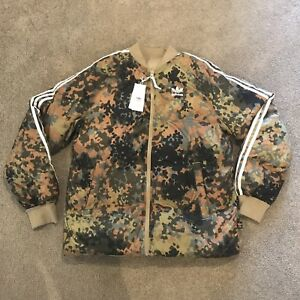 release date: cheap prices cozy fresh Details about Adidas x Pharrell Williams Hu Hiking Camo SST Reversible  Jacket / CY7867 Mens M