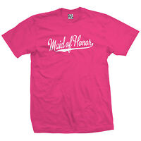 Maid Of Honor Script Tail Unisex Shirt Marriage Bridal Shower Bachelorette Party