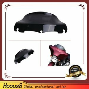 For-Harley-FLHTC-FLHX-Touring-9Inch-Black-Windshield-Windscreen-Deflector-14-16