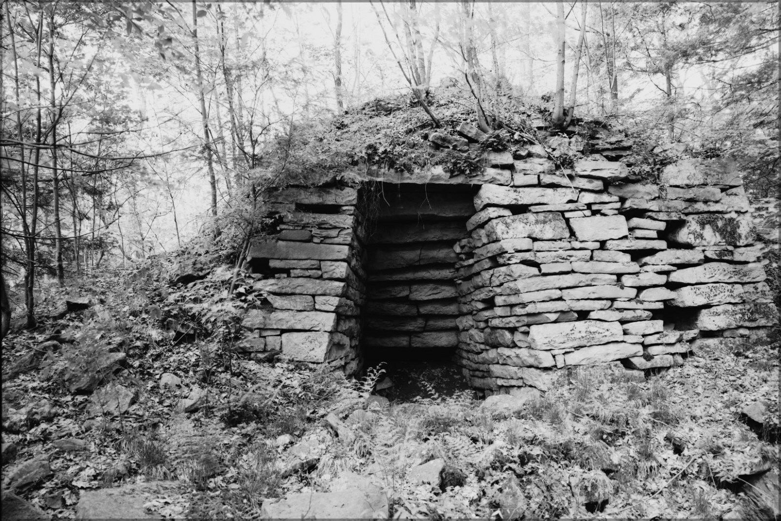 Poster, Many Größes; Shade Furnace, Located Along Dark Shade In Shade Township, S