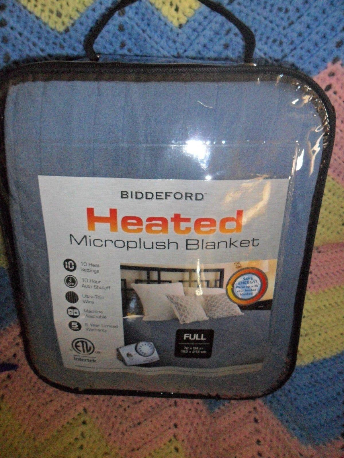 Biddeford Comfort   Microplush  Electric Heated Blankets Full bluee