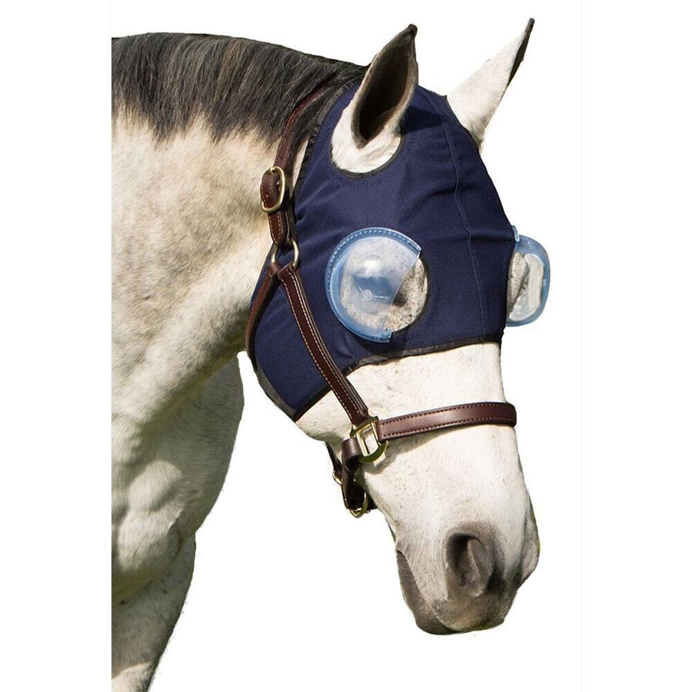 Medi Eye Hood Predection For Horse Eye Injury UV 1  2+ Cups - Adjusts - Dark bluee  order now with big discount & free delivery