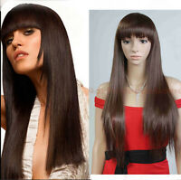 Hot Women's Long Straight Synthetic Hair Cosplay Anime Wigs Full Wigs+Wig Cap