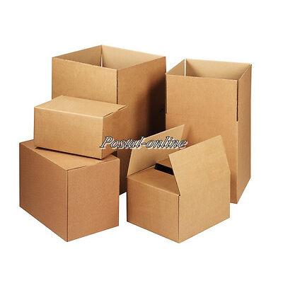 25 SINGLE Wall 8x6x6 Cardboard Mailing Gift Postal Perfume Boxes shipping post