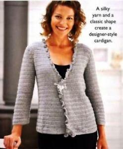 Ladies Crochet Cardigan Pattern Not Finished Item Ebay
