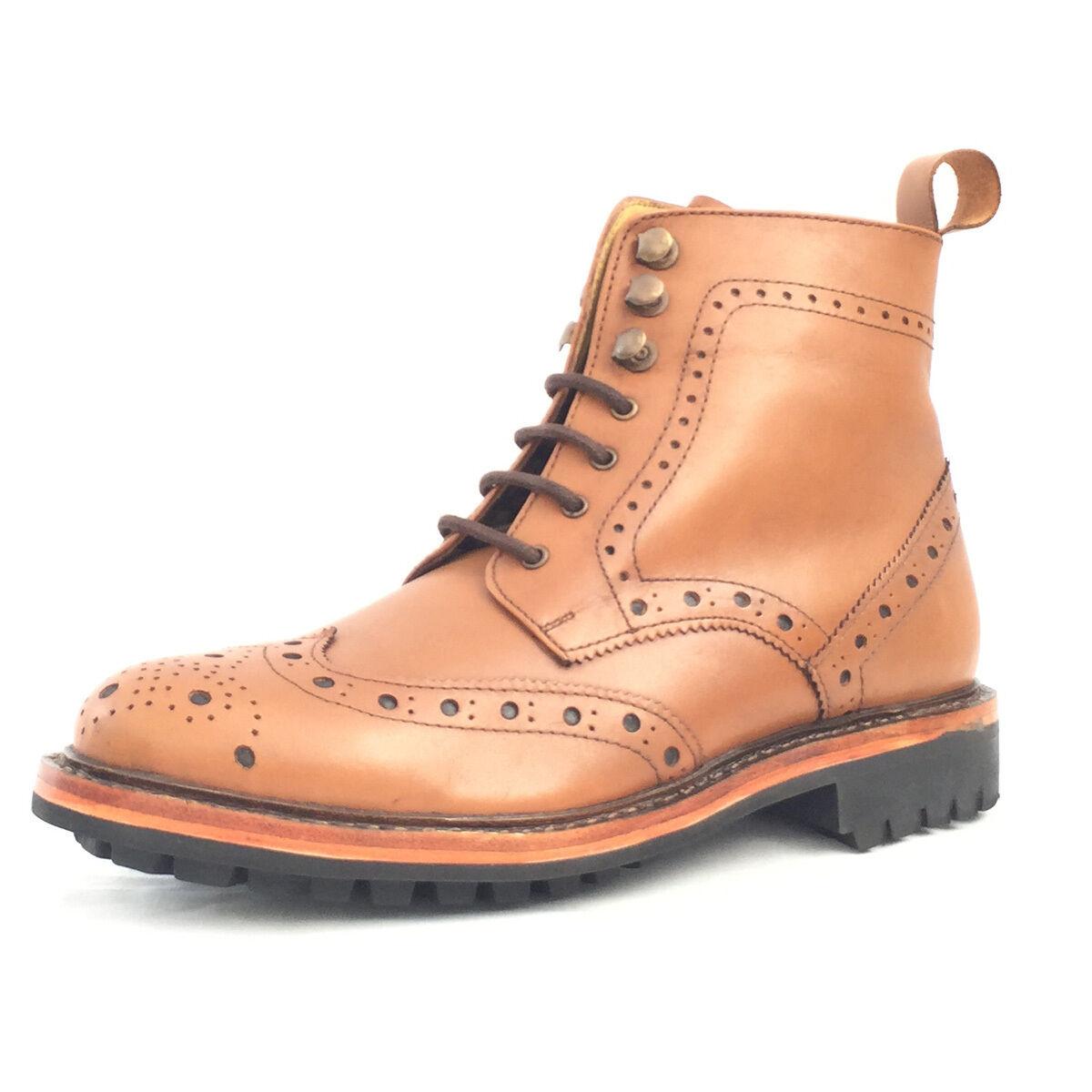 Kingkomfort occhielli Boot (KK106CS) fatto a mano Goodyear BOOT guardolo cucito VERA PELLE BOOT Goodyear a4a086