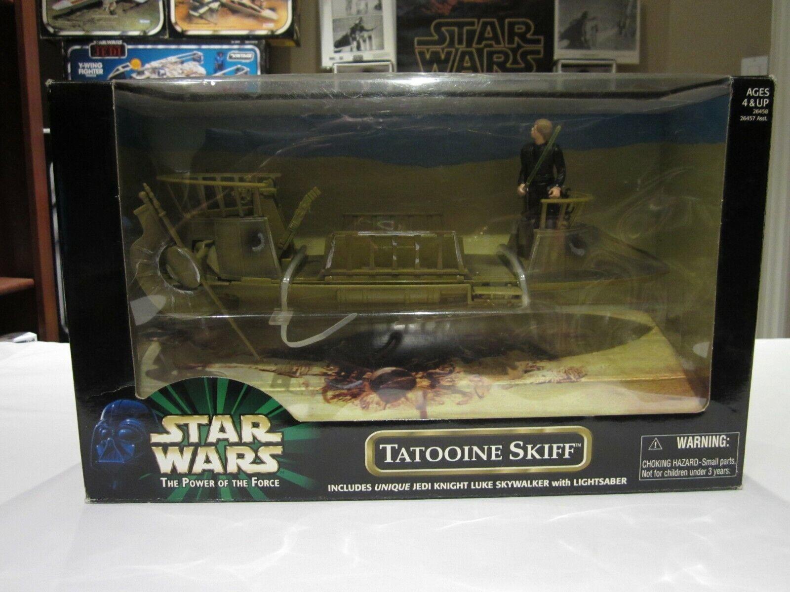 1999 Estrella Wars Potf Tatooine bote W. Luke Skywalker Jedi Hasbro Nuevo Sellado