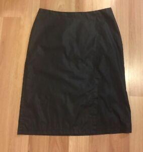 SPORTSGIRL-Women-039-s-Black-Straight-Wrap-Skirt-Size-12-Made-In-Australia
