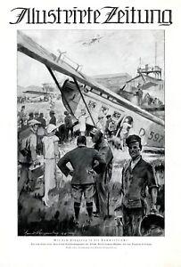 Aero-Llyod-Flugzeug-Flughafen-Leipzig-XL-Kunstdruck-1925-Flugplatz-Flugreise