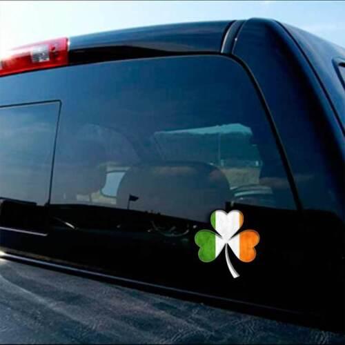 2pk Irish Flag Shamrock Decal Ireland Dublin Car Truck iphone Window Sticker