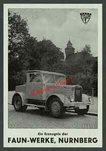 reklame faun zugmaschine lastwagen auto lkw kaiserburg. Black Bedroom Furniture Sets. Home Design Ideas