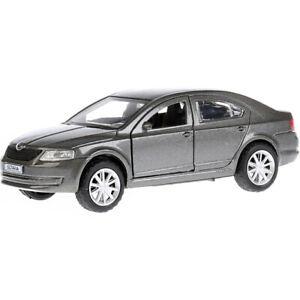Skoda-Octavia-Grey-Diecast-Metal-Model-Car-Toy-Die-cast-Cars