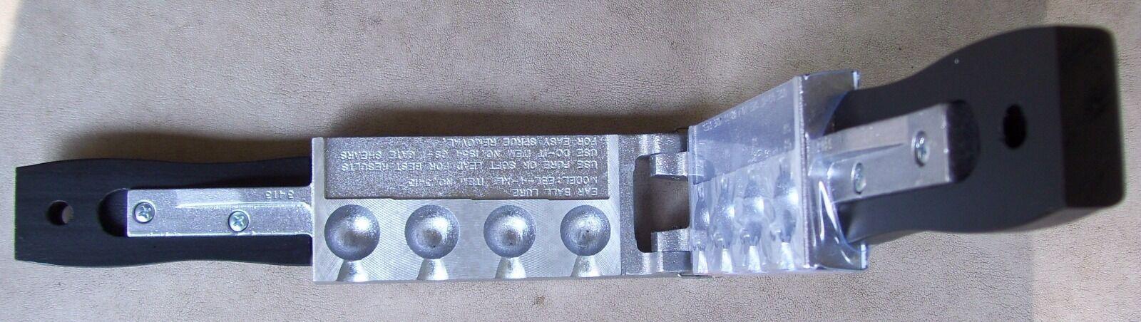 Do-It Ear Ball Lure Mold-4 Cavities Asst.-1-1 2 oz thru 2 oz.(Item )