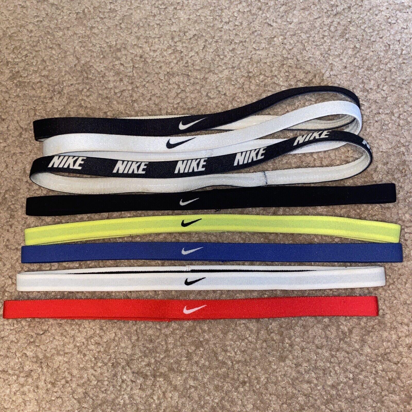 NIKE Headbands 8x Lot Bundle Red, White, Blue, Neon, Black Set Headband
