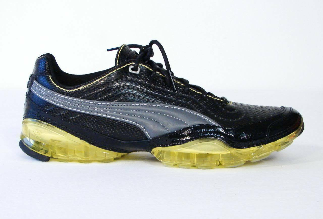 Puma Cell Meio Black & Acacia Leather Athletic Shoes Sneakers Mens 11.5 NIB Great discount