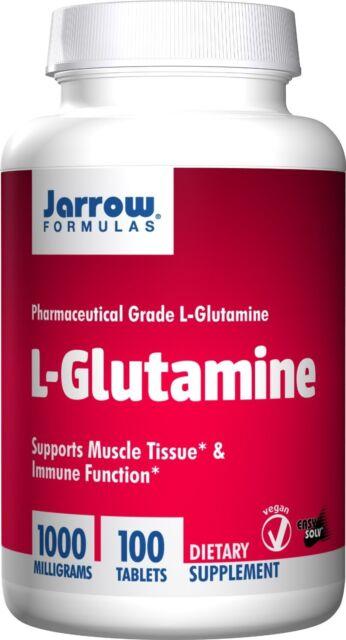 Jarrow Formulas L-Glutamine 1000 mg 100 Tablets, Muscle & Immune Function