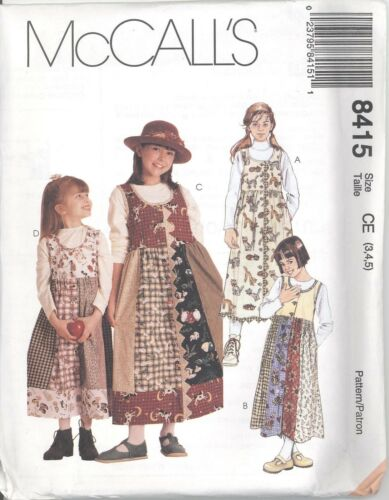 McCall/'s 8415  Girls/' Jumper   Sewing Pattern