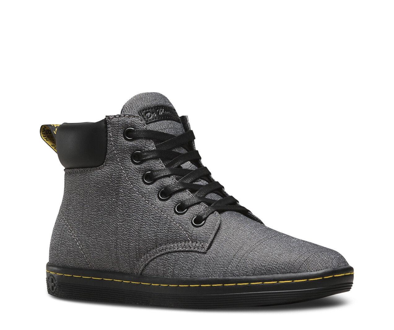 Dr. Martens Wouomo Maelly Mid grigio Canvas 6 Eye High Top scarpe Ankle avvio 5, 11