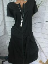 Sheego Kleid Jersey Shirtkleid Gr 377 42 und 56 schwarz 2in1 Optik Aufdruck