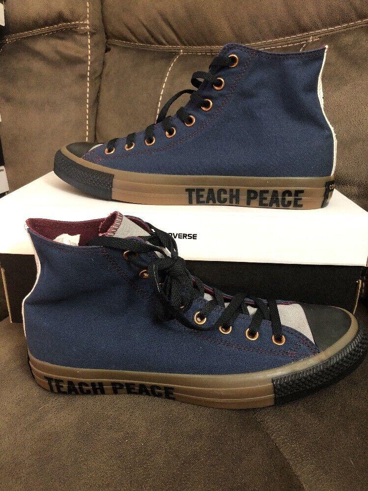 Converse Chuck Taylor All Star'70 lienzo en blancoo para hombre Talla 11 enseñar la paz