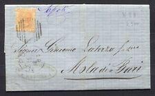 s1889) ITALY REGNO 15.12.1877 da Napoli per Nola di Bari 16.12.1877