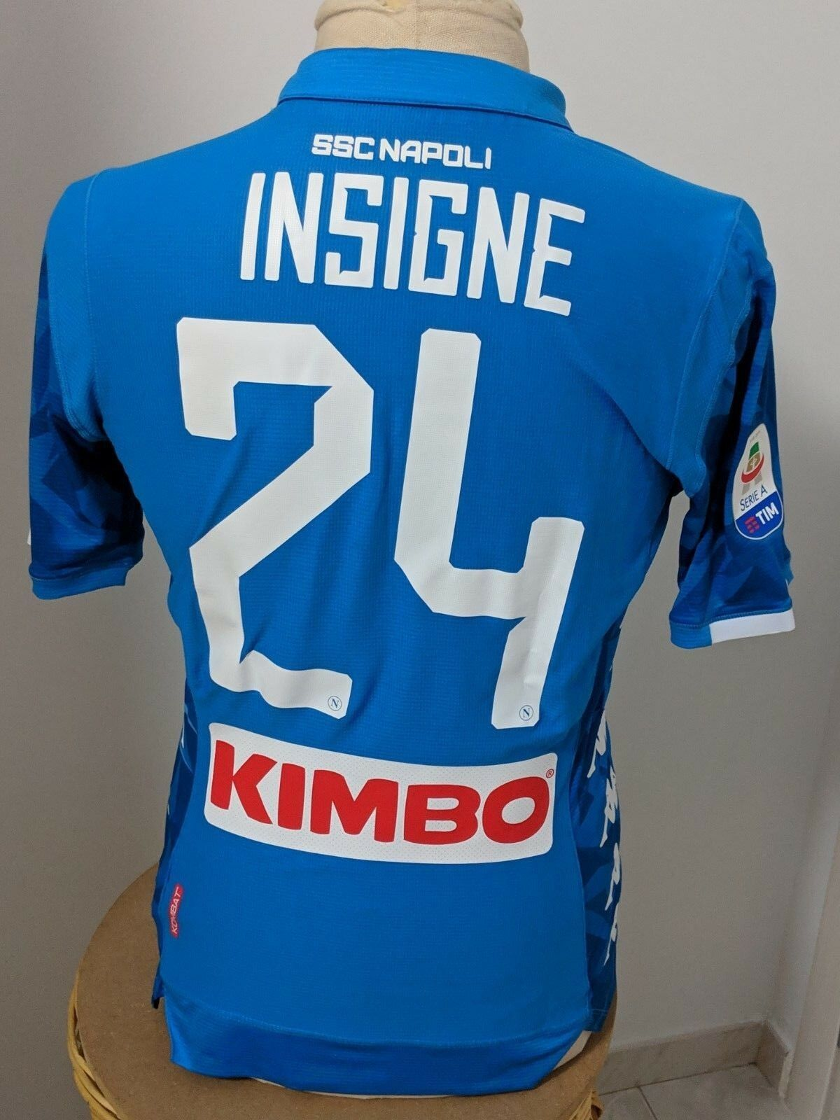Maglia Napoli 2017 18 24 Insigne match worn shirt Jersey Naples camiseta vintage