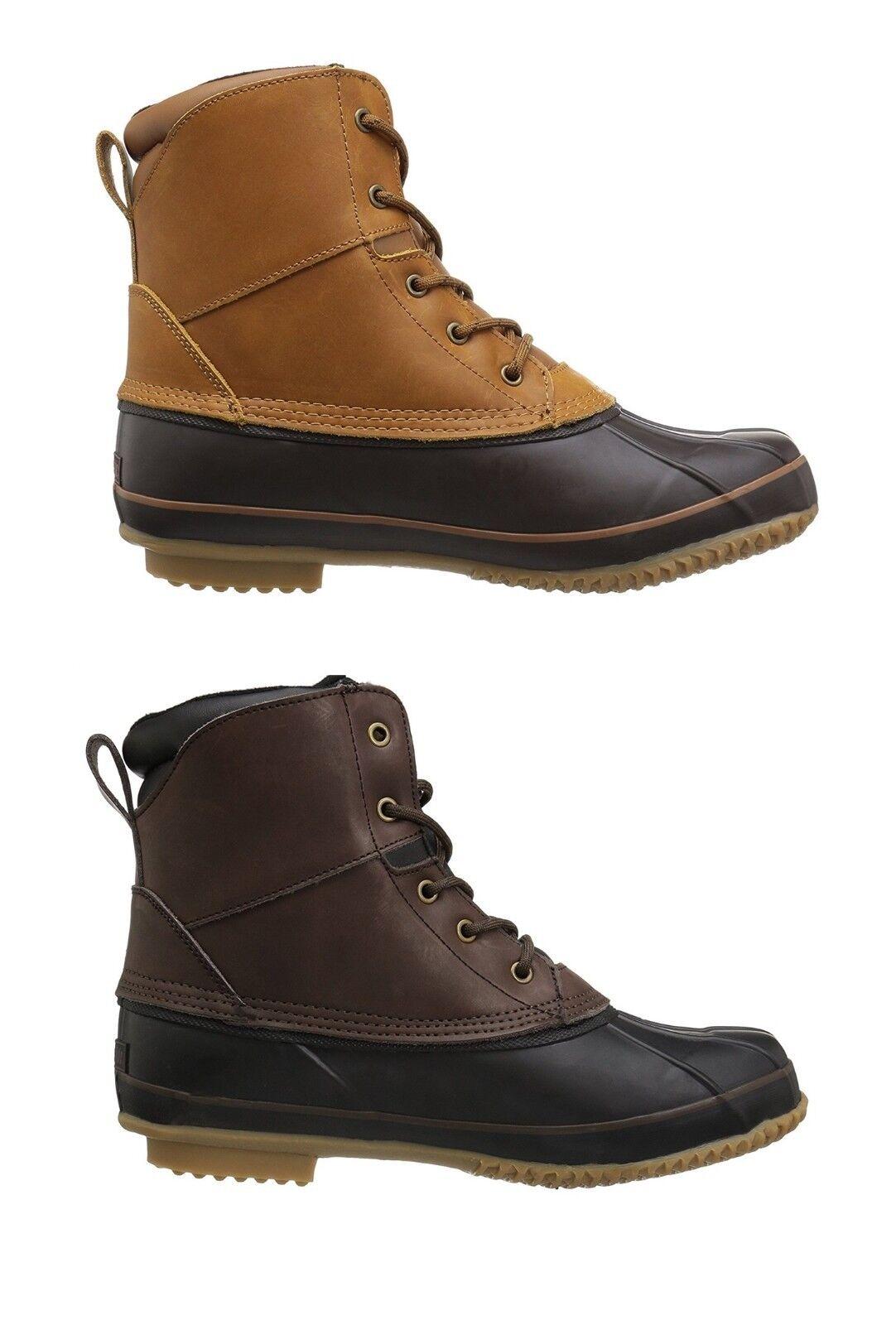 Northside Men's Lewiston Waterproof 200G -25F Insulated Winter Rain Duck Boots