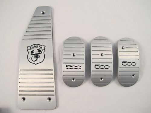 Aluminum Manual MT Pedal Pads Kit Cover For Fiat 500 ABARTH 4