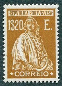 PORTUGAL-1926-1E-20-yellow-brown-SG719-MH-FG-Ceres-redrawn-no-imprint-below-W40