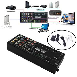 Hot H18 8 Ports HDMI Switch Splitter 8/1 out HD 4K*2K Display Screen