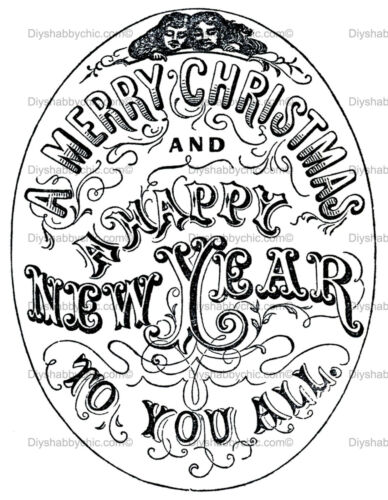 Furniture Decal Image Transfer Vintage Merry Christmas Diy Upcycle Shabby Chic