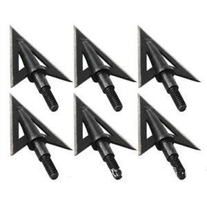 12pcs-100Grain-Archery-Arrow-Barbed-Gig-Shooting-Points-Tips-Hunting-Broadheads