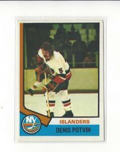 1974-75-O-Pee-Chee-195-Denis-Potvin-RC-Rookie-Islanders