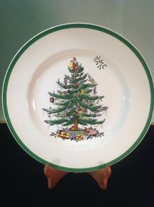Image is loading Spode-Christmas-Tree-S3324-A14-c1938-Dinner-Plate-