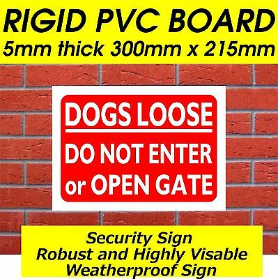 DO NOT OPEN THE GATE DOGS RUNNING LOOSE Metal SIGN guard dog free safety NOTICE
