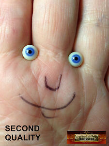 M00941 MOREZMORE Eyes Glass 7mm Seconds VIOLET BLUE Small Miniature A60