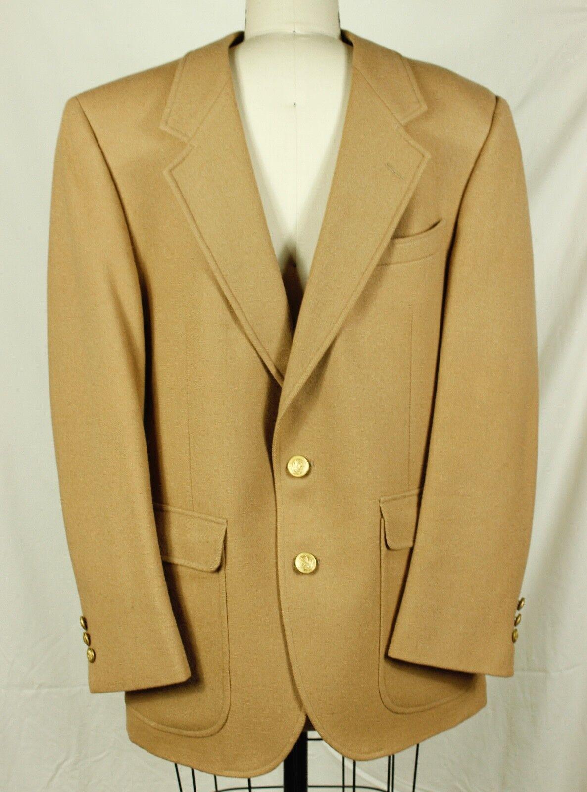 Centura for Broadway Men's Camel Over Coat, 100% Wool, Vintage 1980's, Medium