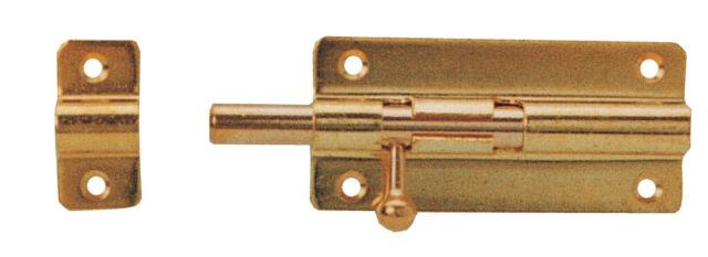 Imof catenacciolo piatto ottone nichelato 80 mm catenaccio porte porta
